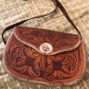 Vintage Hand Tooled Handbag